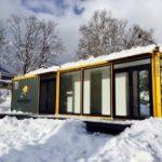 【施工事例】北海道倶知安町の企業の活動をアピールするためのコンテナハウス