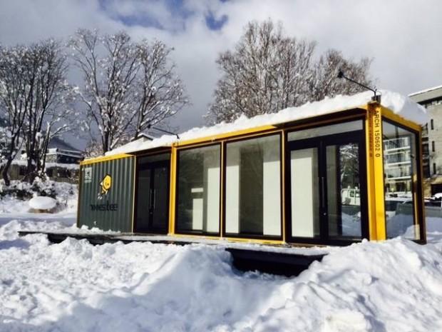 北海道ニセコ町のhonestbee株式会社のアピールコンテナハウス