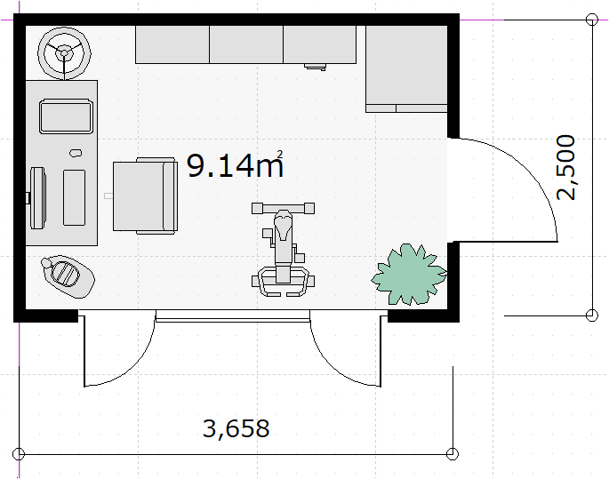 12フィート コンテナハウス 図面