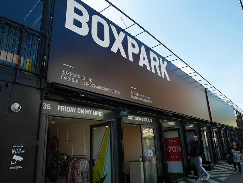 イギリスの「ボックスパーク ショーディッチ(BOXPARK Shoreditch)」視察。都会に馴染むコンテナモールの洗練された形