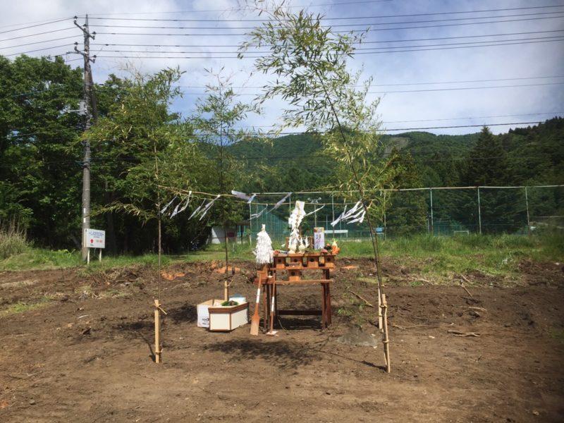 山中湖にて地鎮祭!いよいよ施工が開始されます!