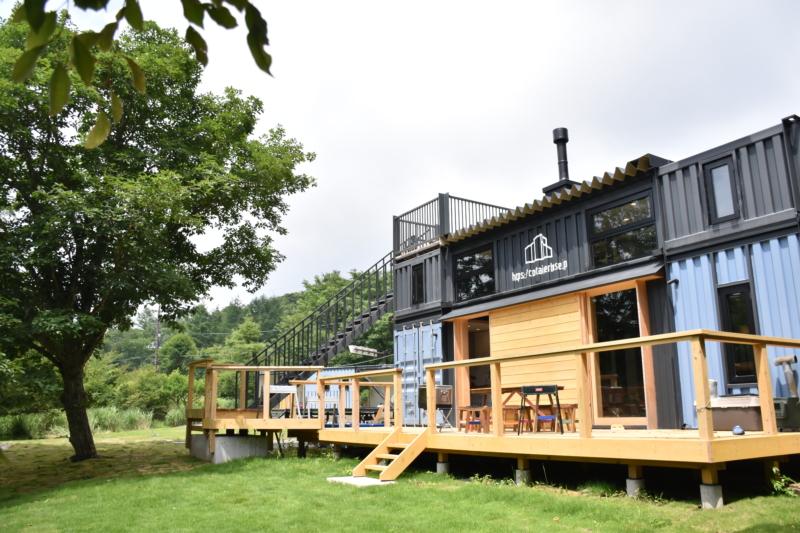 【施工事例】山中湖の直営宿泊施設「CONTAINER WORKS IN YAMANAKAKO」