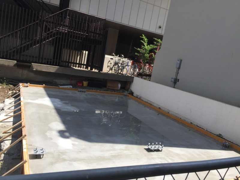 コンテナハウス基礎工事参考画像