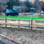 【河口湖】コンテナを使用した宿泊施設|基礎工事もいよいよ鉄筋工事へ