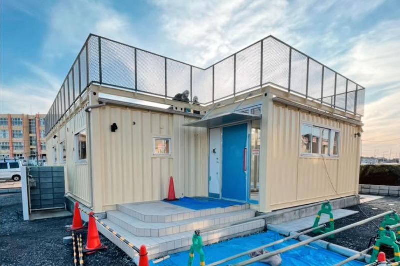 コンテナ5台を使用した福祉施設
